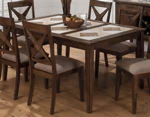Tile Dining Room Table Jofran Tucson Brown 8 Piece 64x41 Rectangular Tri Color