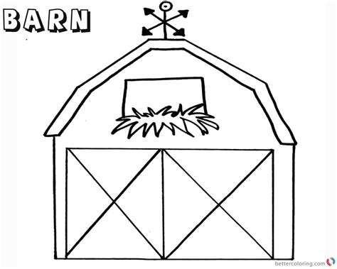 barn coloring pages barn coloring pages flowers in the window free printable