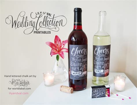 diy wine label template diy wedding printable rustic chalk labels worldlabel