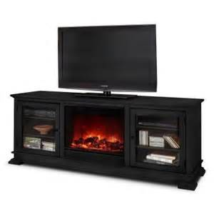 tv stand with fireplace home depot hudson 68 in media console electric fireplace in black