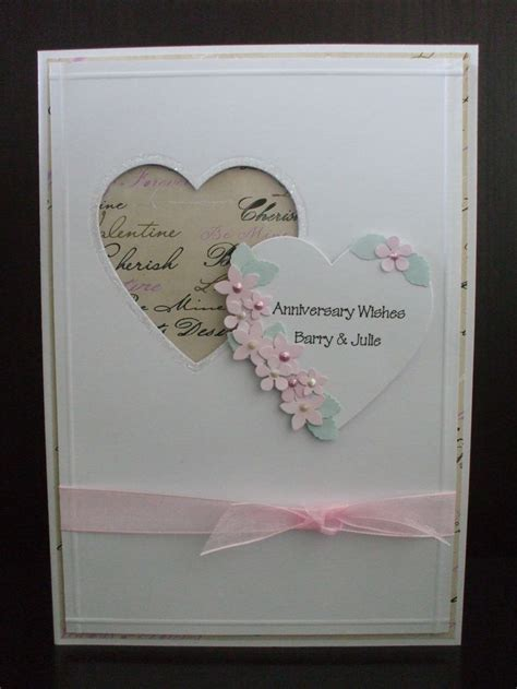 Wedding Anniversary Handmade Cards - 25 best ideas about handmade anniversary cards on