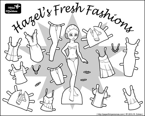 fashion doll coloring pages mini maidens archives paper thin personas