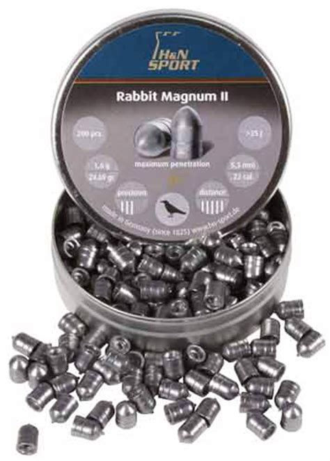 Rabbit Magnum Cal 22 h n rabbit magnum ii 22 cal 24 69 grains cylindrical