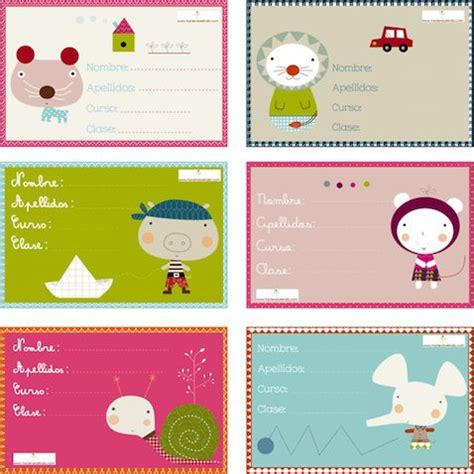 imagenes escolares para imprimir gratis 5 modelos de etiquetas escolares personalizadas para