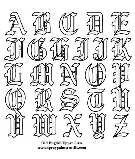 Printable Alphabet Font Designs | large free printable tattoo designs tattoo fonts free