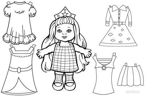 Paper Dolls Coloring Pages And Printables Page 2 Review Paper Doll Coloring Pages