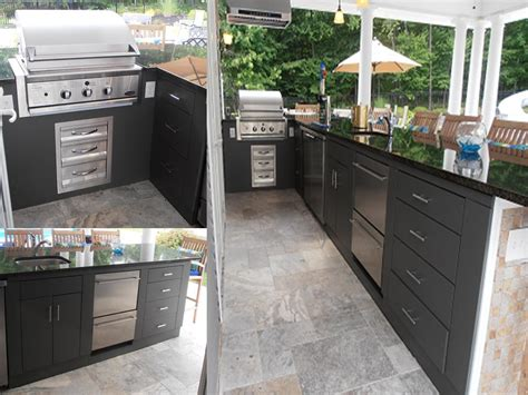 Outdoor Patio Kitchen Cabinets by Happy Outdoor Kitchen Customer In New York Outdoor