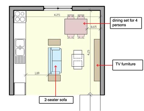 floor plan of living room how to arrange furniture in a small open plan kitchen