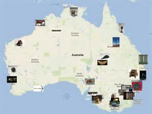 landmarks map image gallery landmarks australia