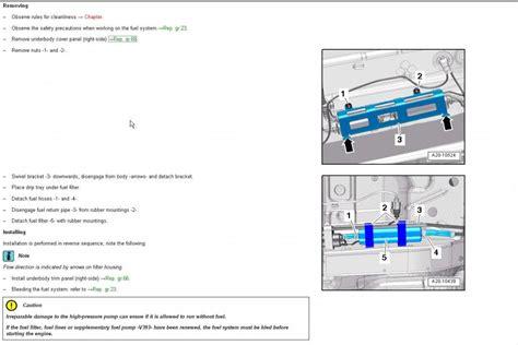 audi fuel filter 2014 q5 3 0 tdi fuel filter location audiworld forums