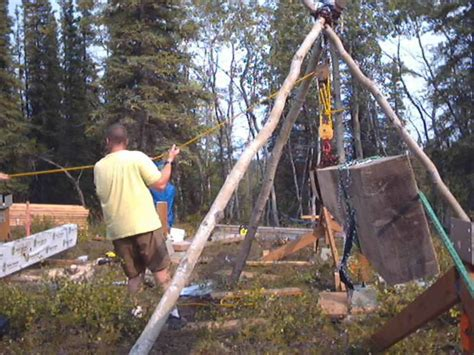 building a cabin file building a cabin in forest jpg wikimedia commons