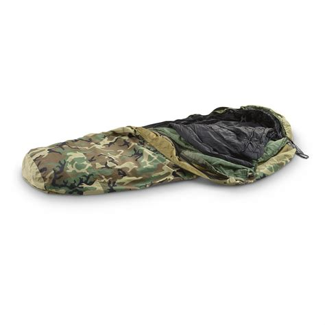 Sleeping Bag Mhw 3layer u s surplus 3 layer ecws sleeping bag system used 135580 sleeping bags at