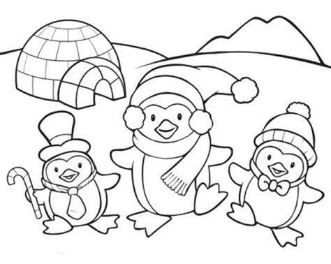 kawaii winter coloring book a winter coloring book for adults and kawaii characters chibi winter and activities books penguin coloring pages penguin family coloring page