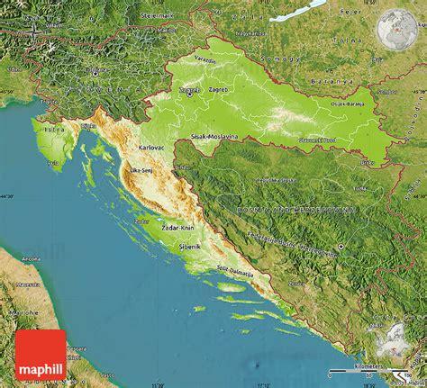 physical map of croatia physical map of croatia satellite outside