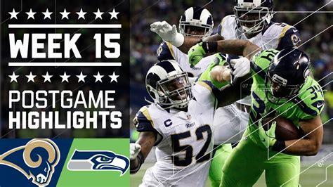 seahawks rams free rams vs seahawks nfl week 15 highlights