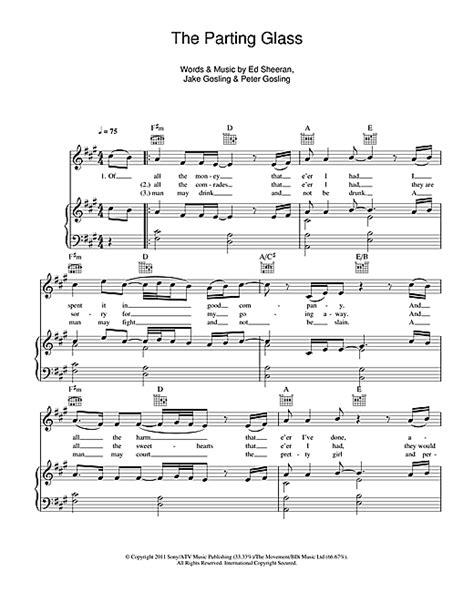 ed sheeran perfect harp the parting glass partition par ed sheeran piano chant