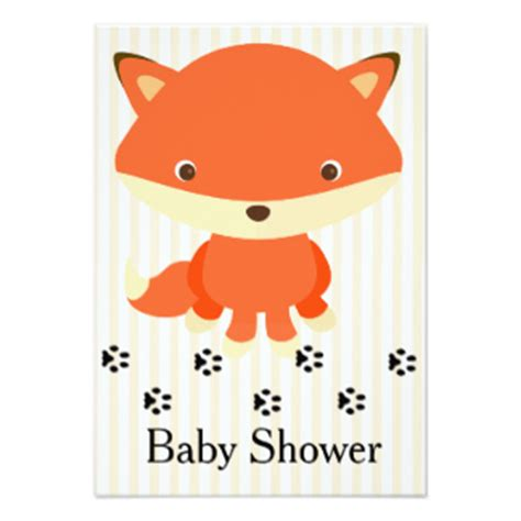Fox Baby Shower by Baby Shower Woodland Creatures Invitations Announcements Zazzle