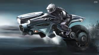 new car and bike wallpaper flying motorcycle of the future background 1 hd wallpapers
