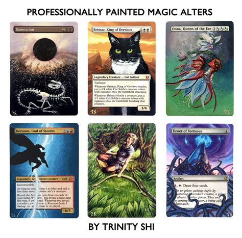 make custom magic cards painted custom altered magic the gathering mtg card