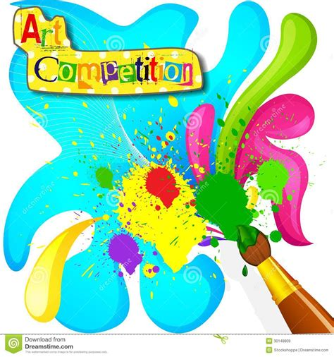 themes for drawing and painting competition art and painting competition poster stock vector image