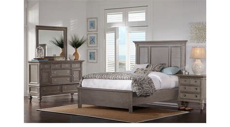 7 Pc Bedroom Set by Belmar Gray 7 Pc Bedroom Panel Traditional