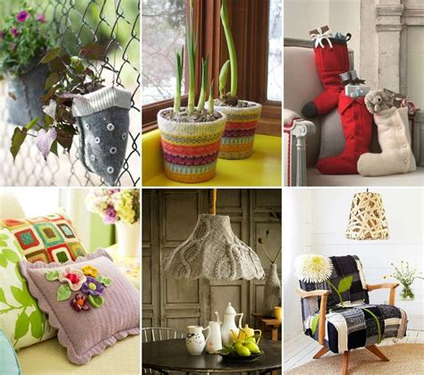 15 creative recycled sweater home decor projects