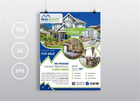 Photoshop Real Estate Flyer Templates