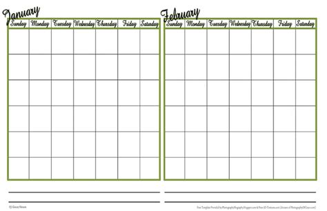 Two Month Calendar Template 2017 free printable 2 month calendar template free calendar