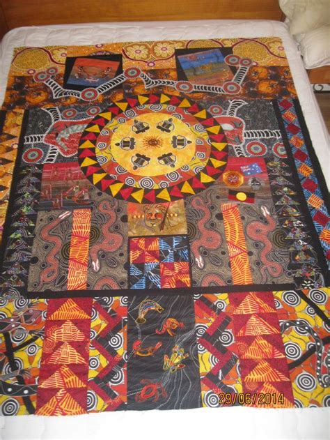 aboriginal design quilt cover 9 best quilts with aboriginal fabris images on pinterest
