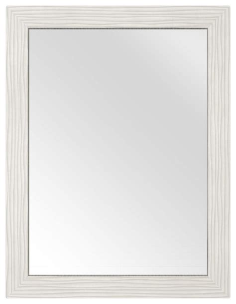 Modern White Bathroom Mirrors Contour Shaker Mirror White 23 Quot Contemporary