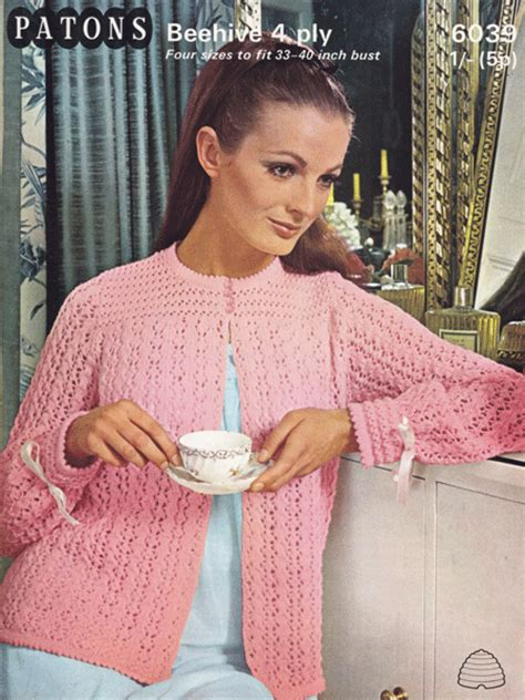 free knitting pattern bed jacket bed jacket and bedwear vintage knitting patterns from the