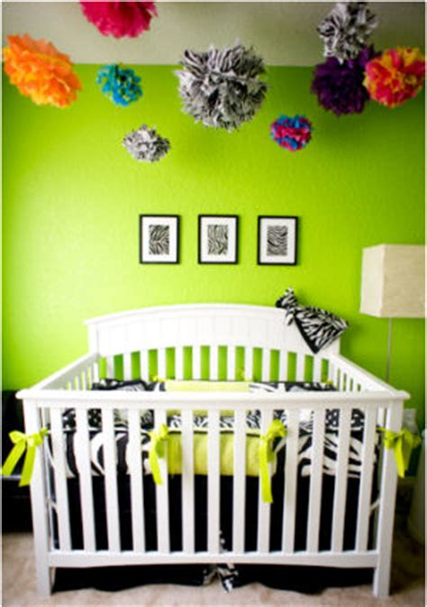 s lime green zebra nursery