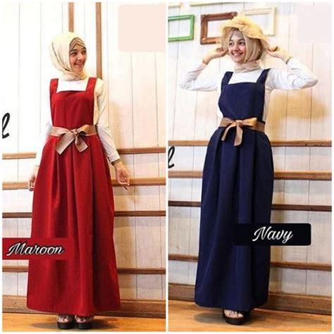 Overall Dress Wanita Muslim Line Overall baju muslim terbaru overall grosir baju muslim