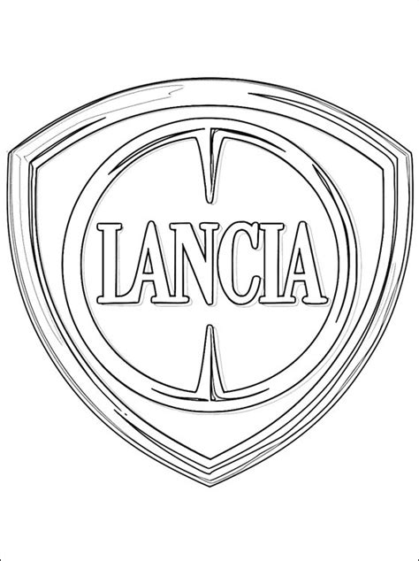 cars logo coloring pages lancia logo coloring page coloring pages