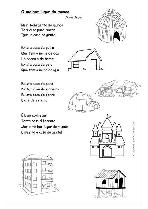 Tipos de Moradia e as diversas moradias - Atividades