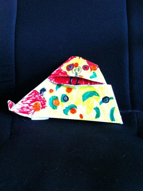 Origami Pizza - pizza the hutt origami yoda