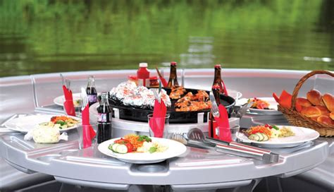 round barbecue boat barbecue dining boat the green head