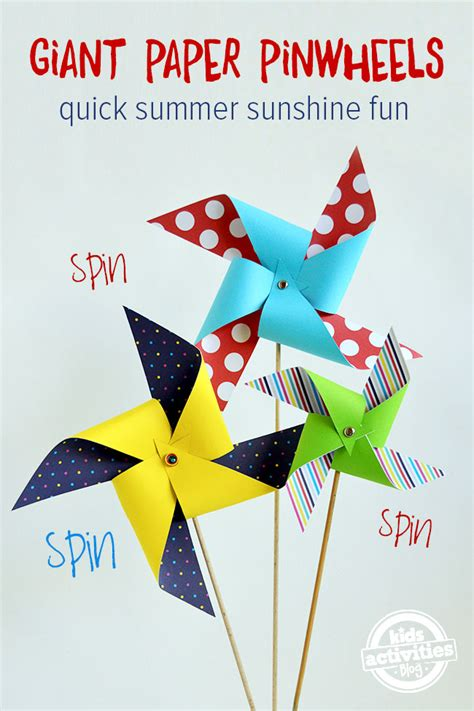 How To Make A Paper Pinwheel That Spins - paper pinwheels been released on