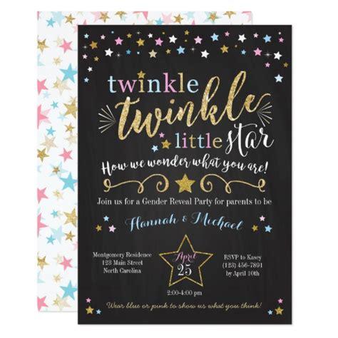 Twinkle Twinkle Card Templates by Twinkle Twinkle Gender Reveal Invite Zazzle