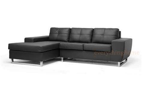 faux leather sectional sofa with chaise modern black faux leather sectional sofa chaise wood frame
