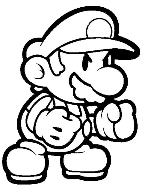 Paper Mario Coloring Pages paper toad coloring pages coloring pages