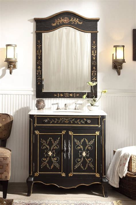 Floral Vanity by 32 Quot Painted Floral Design Decoroso Bathroom Sink