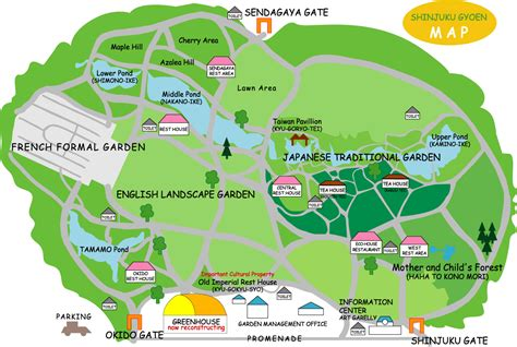 map of parks shinjuku gyoen park map shinjuku gyoen mappery
