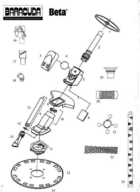 pool parts diagram baracuda beta replacement parts diagram
