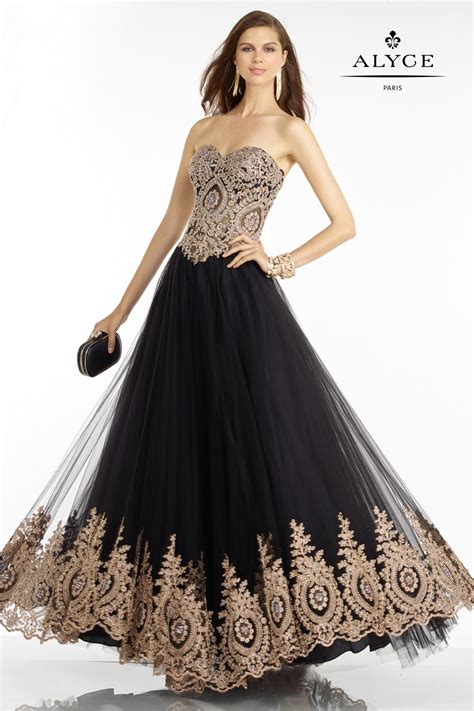 6 Of The Best Black White Inspired Dresses by Alyce Prom Dress Style 6596