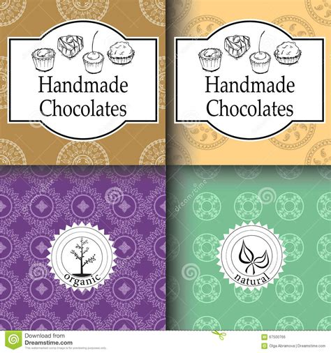 Handmade Chocolates Packaging - vector handmade chocolates packaging templates and design