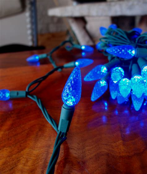 C7 String Lights Outdoor 25 Outdoor Blue Led C7 Strawberry String Lights 16 6ft Green Cord Ebay