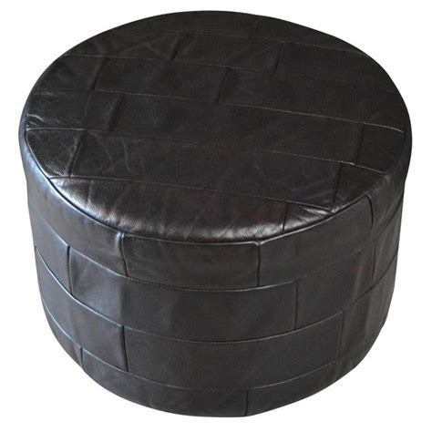 Leather Patchwork Ottoman - de sede leather patchwork ottoman for sale at 1stdibs