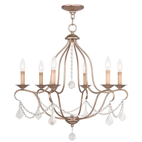 Silver Leaf Chandelier Livex Lighting Chesterfield Antique Silver Leaf Six Light Chandelier On Sale