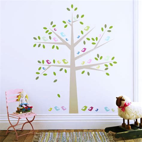 Kidscapes Wall Stickers childrens birds in a tree wall stickers by kidscapes